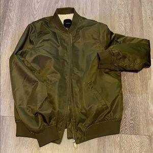Forever 21 Olive Green Bomber Jacket Small